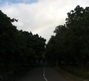 Very faint rainbow