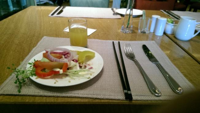 [Last hotel breakfast]